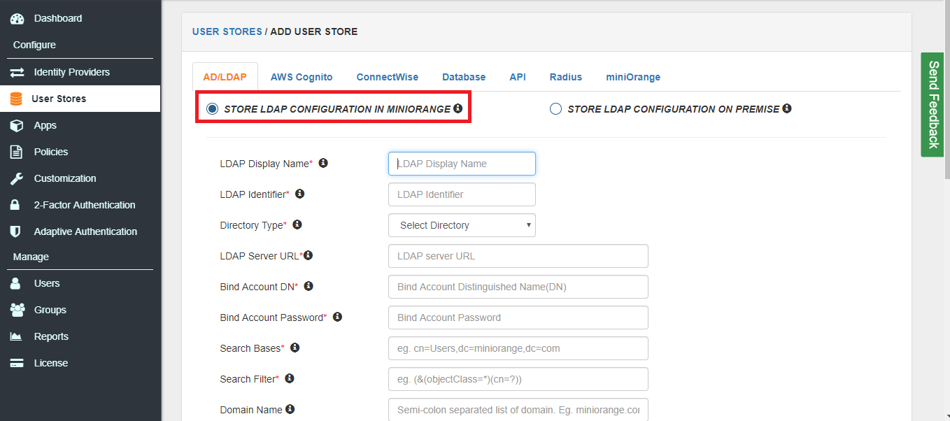 LDAP Integration(LDAP configuration settings)