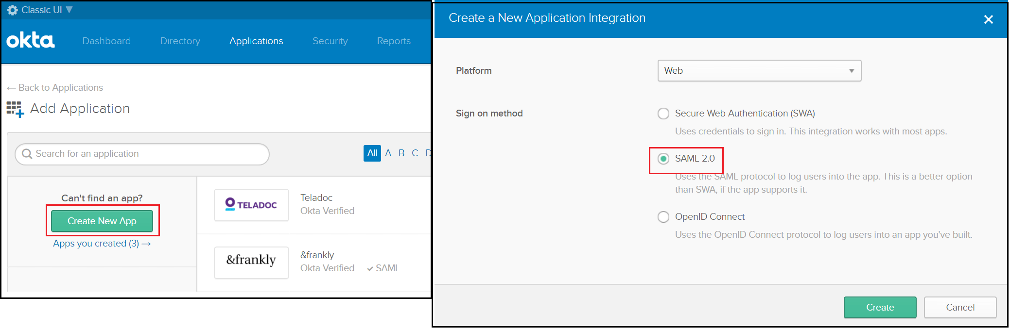 Okta Single Sign On SSO okta SAML 2.0
