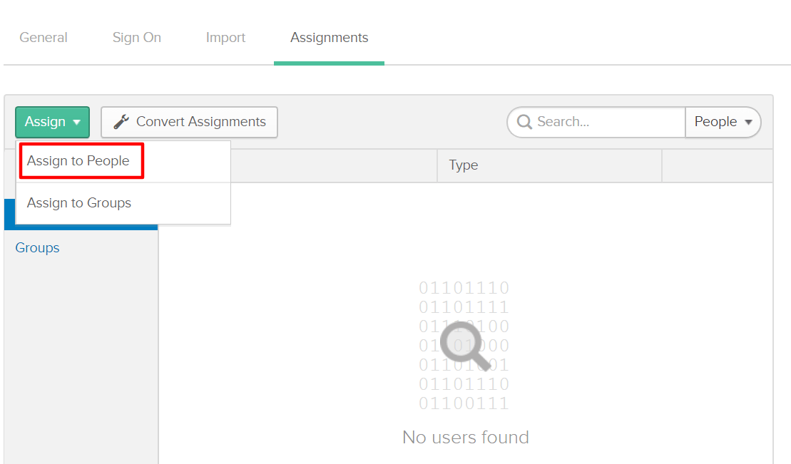 Okta Single Sign On SSO Assignment