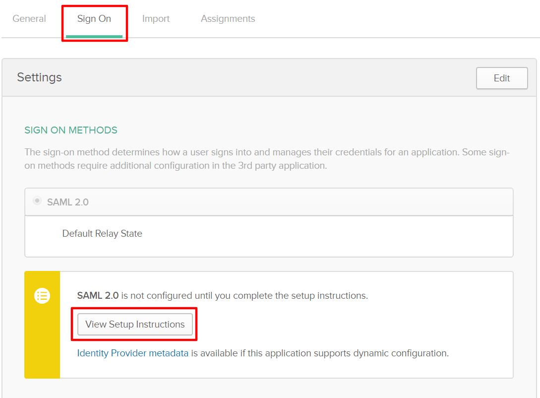 Okta Single Sign On SSO adding identity source