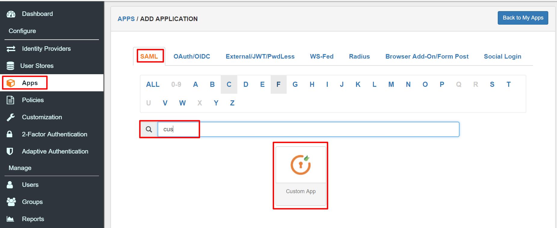 Custom app Settings for WordPress as SP