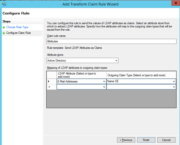 add transform claim rule adfs 2FA