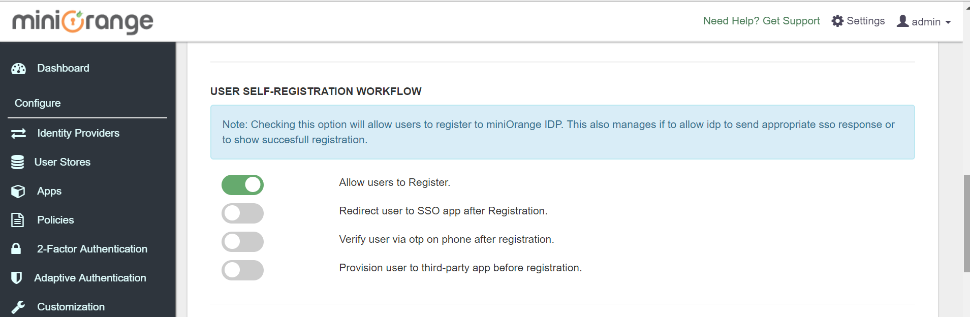 IDP user-registration
