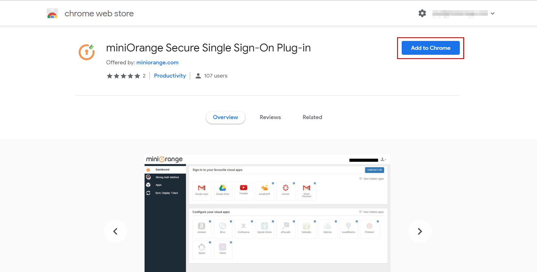 Browser SSO Apps extention
