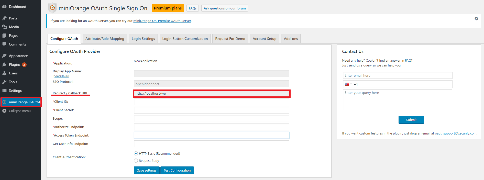 Siebel CRM via API Authentication