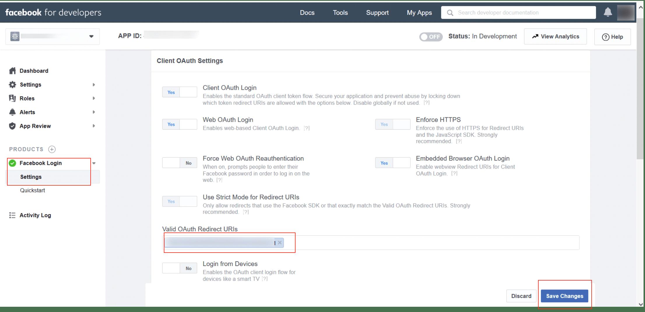 miniOrange broker service oauth with facebook setup window