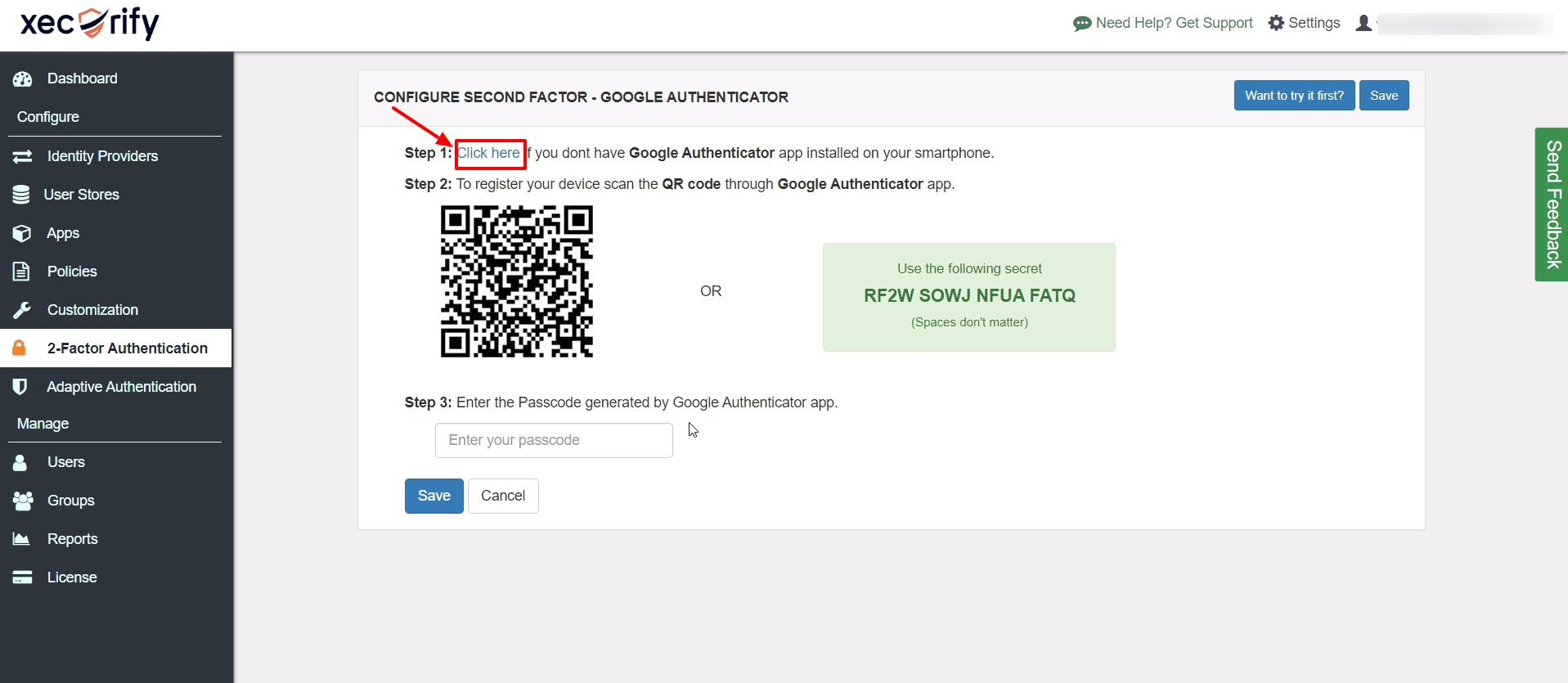 install GOOGLE AUTHENTICATOR