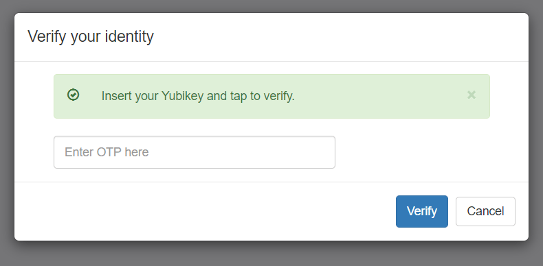 verify your identity as an admin to system