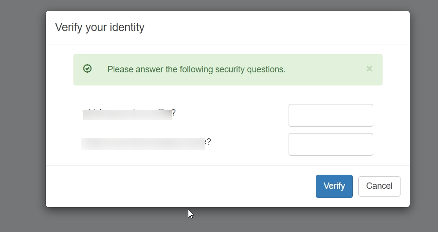 Verify your identity as an admin