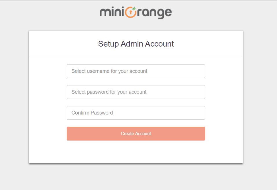 miniorange onpremise aws setup admin account