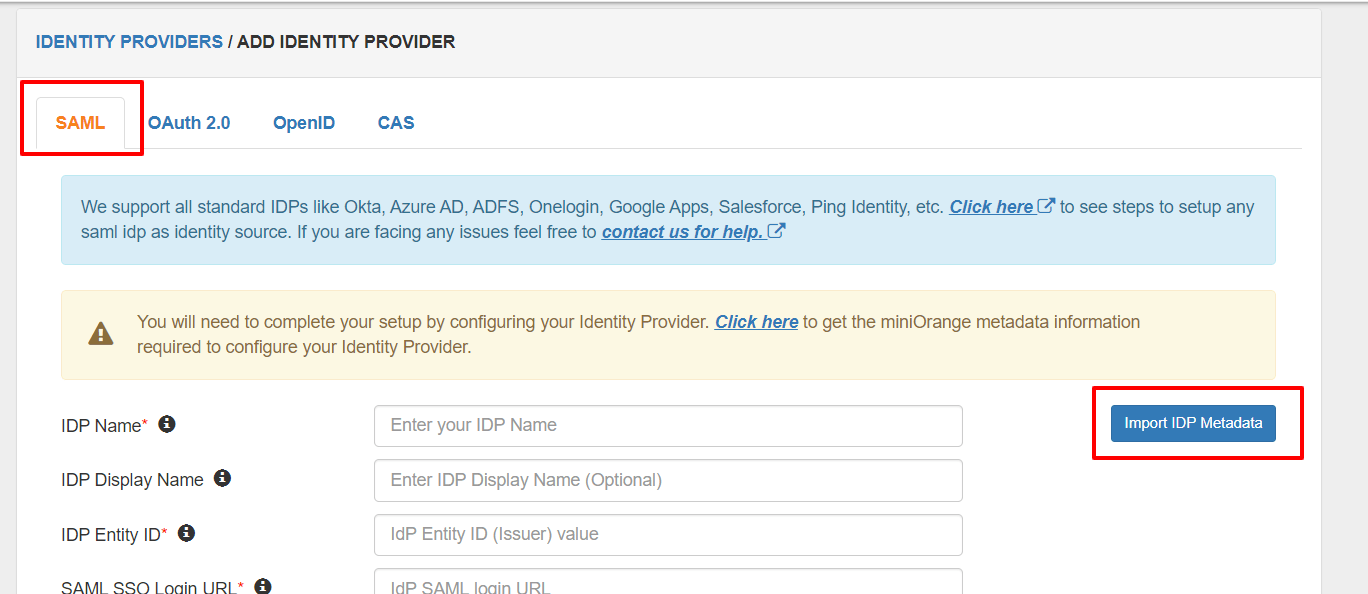 Salesforce Saml App