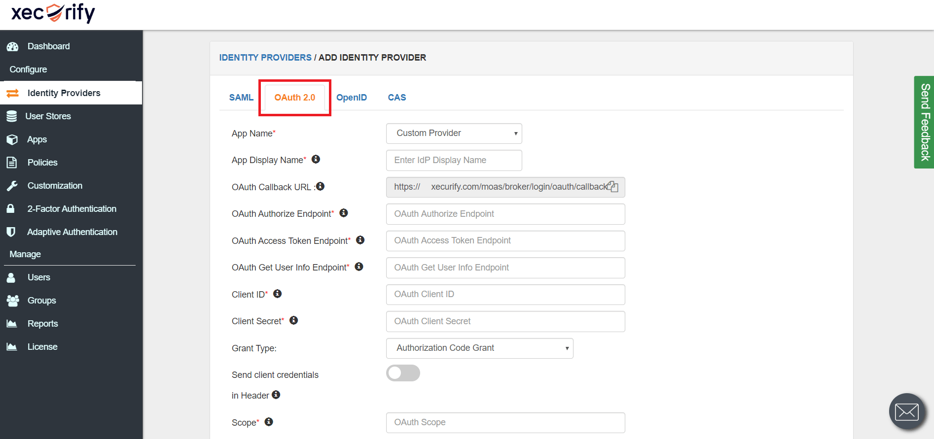 Single Sign-On using GitHub(Identity Provider with OAuth 2.0 Provider)