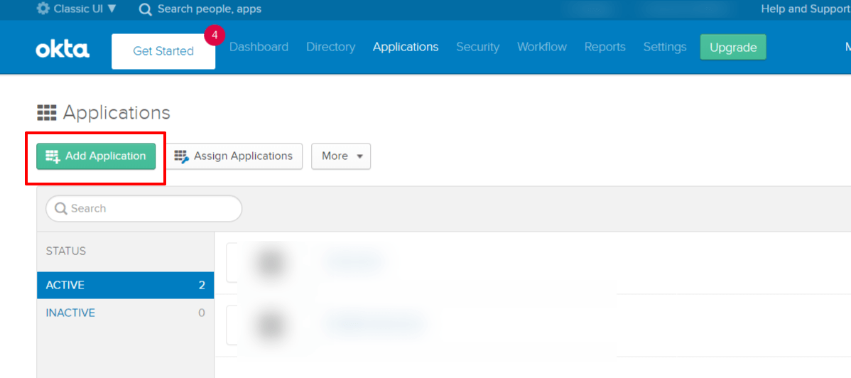 Okta Single Sign On SSO add app