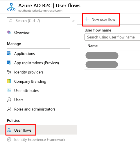 Microsoft Azure b2c Single Sign On (sso) Login : azure-b2c-create-policy
