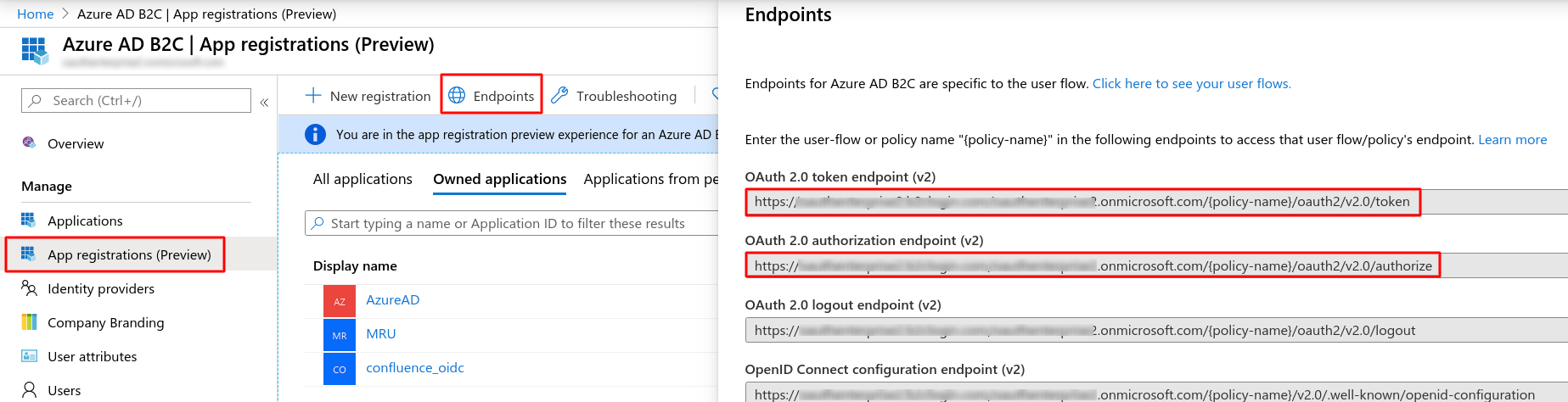 Microsoft Azure b2c Single Sign On (sso) Login : azure-b2c-endpoints