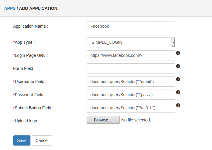 example fb Browser SSO Apps