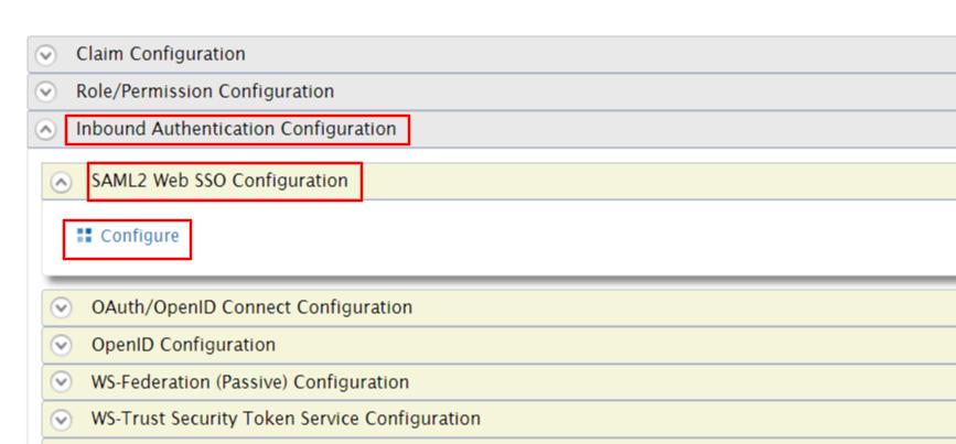wso2 sso configure saml2 web configuration