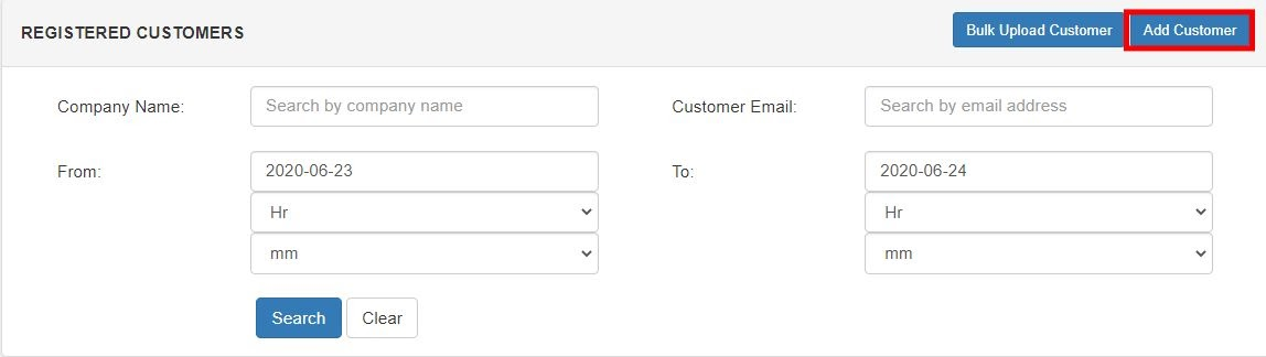 smtp gateway add customer