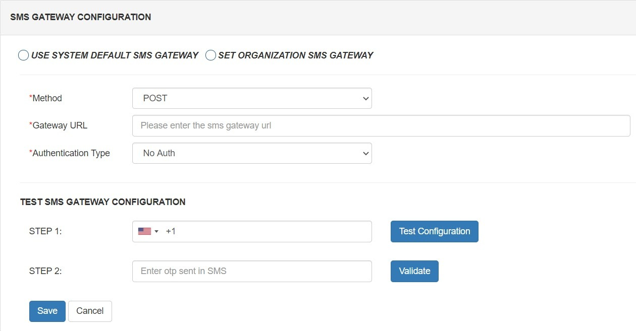 smtp gateway configure sms gateway