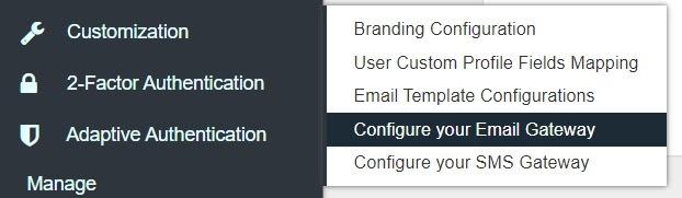 smtp gateway configure email