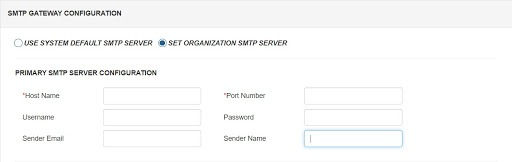 smtp gateway save configuration