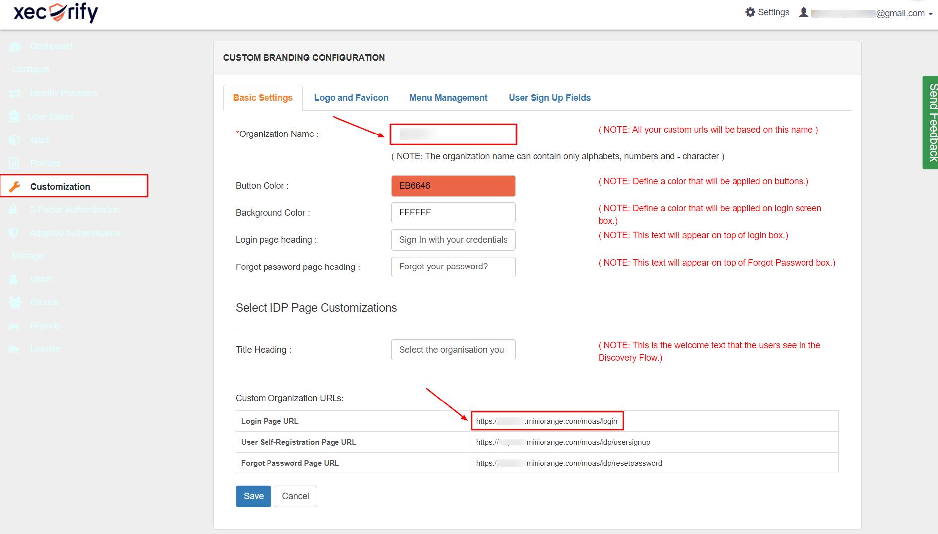 Copy user URL