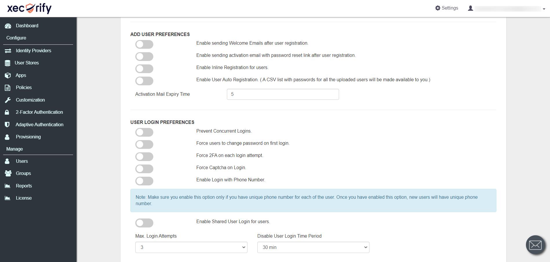 IDP CSV list with passwords